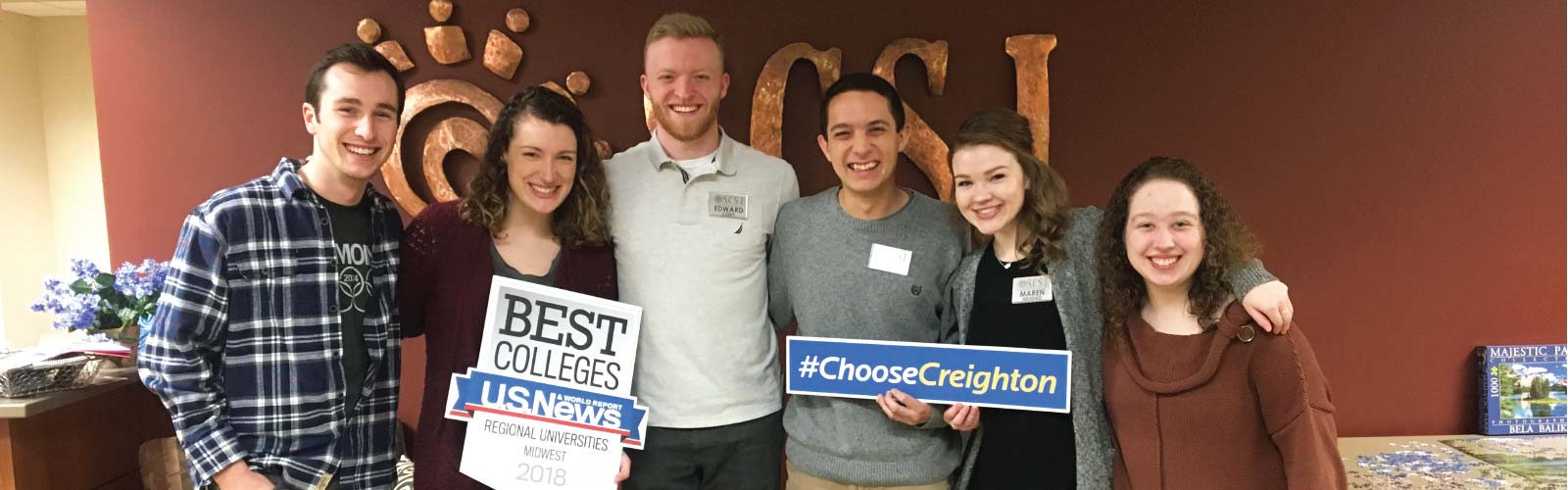 Creighton students for admitted students day