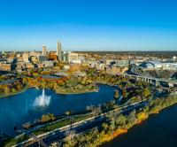 Aerial View of Downtown Omaha