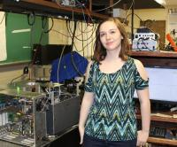 Kelsey, an undergraduate researcher in physics